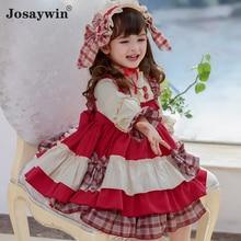 Children Dress for Girls Baby Autumn Long Sleeve Navidad Wedding Dress Girl Ball Gown Lolita Girl Princess Party Vestidos 2021
