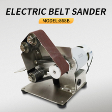 Mini Electric Belt Sander DIY Polishing Grinding Machine Fixed Angle Sharpening Machine Blade Desktop Cutter Edges Power Tool