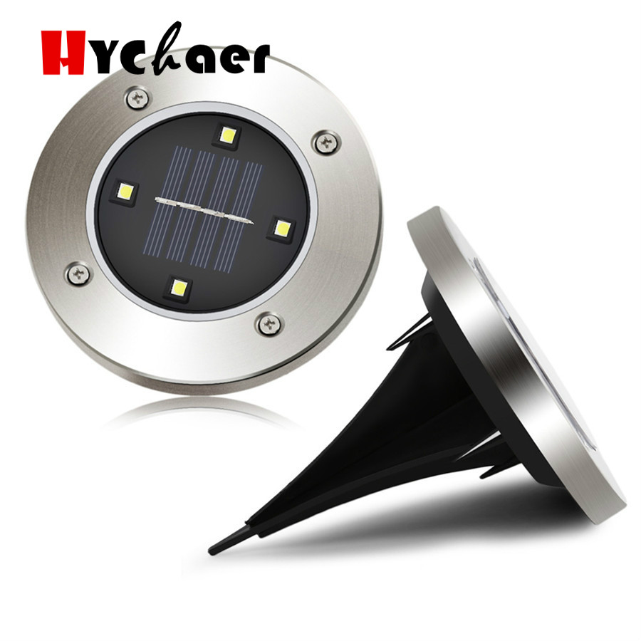 4/8 LED Outdoor Garden Solar Disk Light Path Stairs Deck Step Lawn Ground  Floor For Lamp Terrace Lighting