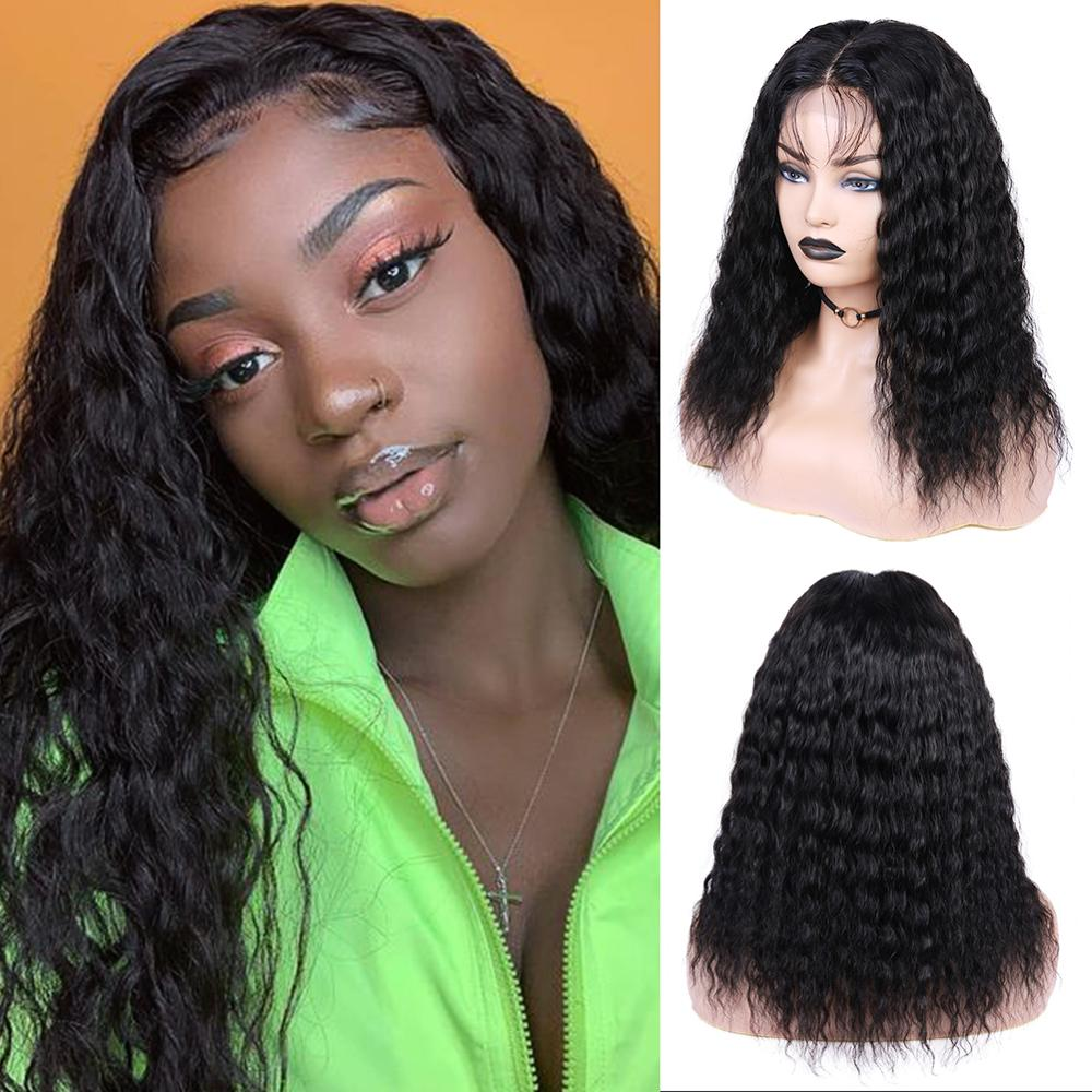 Wignee 4*4 Lace Closure Human Hair Wigs With Baby Hair For Black Women Brazilian Remy Hair Natural Wave Pre Plucked Human Wigs