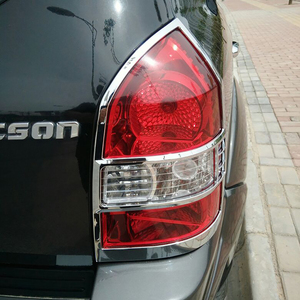 Image 5 - משלוח חינם ABS Chrome אחורי פנס מנורת כיסוי Trim 2 יח\סט עבור 2005 כדי 2012 עבור יונדאי טוסון
