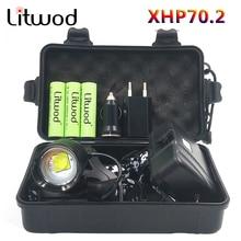 헤드 램프 헤드 램프 헤드 라이트 손전등 토치 원래 3 전구 Xhp70.2 Led 18650 배터리 Litwod 줌 입/출력 리튬 이온