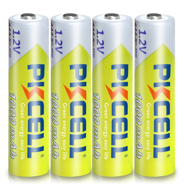 8Pcs PKCELL AAA Battery 1.2V Ni-MH AAA Rechargeable Batteries 1000MAH 3A aaa flashlight battery with 2PC AAA/AA Battery Holder 4