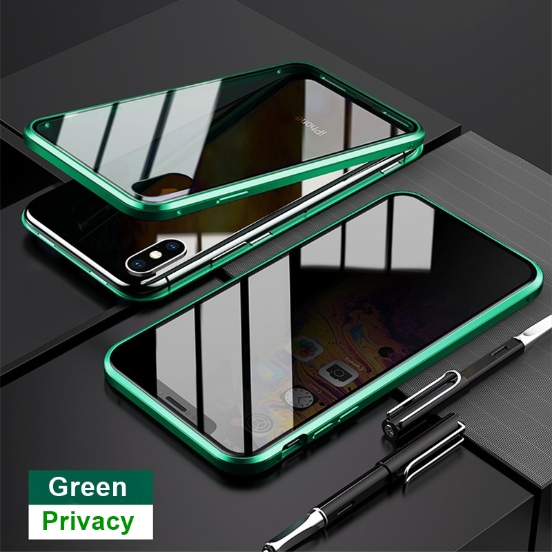 H3205681f74384e10a671b965a63d654cl Tongdaytech Privacy Magnetic Case For Iphone XS XR X 6s 6 7 8 Plus 11 Pro MAX Magnet Metal Tempered Glass Cover 360 Funda Cases