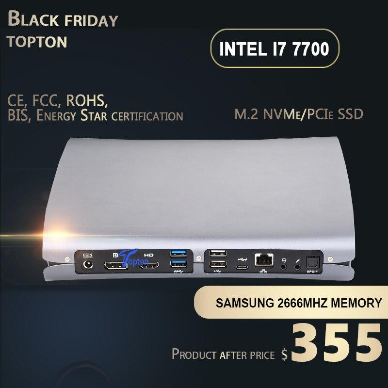 Gaming Mini PC Ultra Small Mini Desktop Computer Intel Core I7 6700HQ Processor With Dedicated Card GTX960M , HDMI, DP, Type-C
