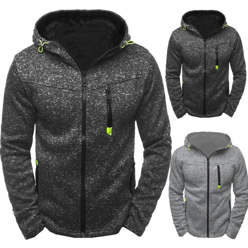 Man Motion Leisure Jacquard Weave Sweater Catch Down Cardigan Even Hat Male Loose Coat Solid Pullovers Sweatercoat