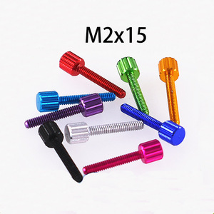 5Pcs New Arrived Color Aluminum Alloy Small Head Lengthened Hand Twist Handle Hand Rotation Positioning Adjustment Screw(China)