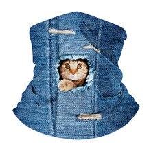 Мужская женская магия шарф карман животное узор открытый оголовье дамы Балаклава шеи трубка половина Маска анти-пыли, УФ-хиджаб