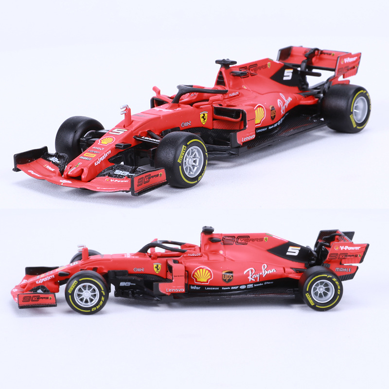 BBURAGO 1:43 Diecast Alloy Car Model Toy For 2019 FERRARI F1 SF90 Model Racing CAR NEW With Original BOX
