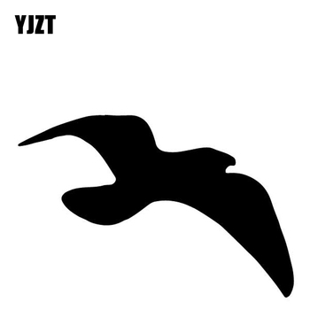 YJZT 15.6CM*10.3CM Seagull Pattern Vinyl Decal Car Trunk Decorate Car Stickers Black/Silver C4-2547 image