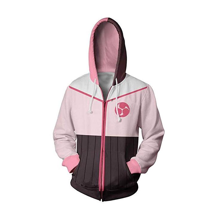 RWBY Hoodie Unisex Zipper Hooded Sweatshirt Casual Jacket Cosplay Print Coat Top