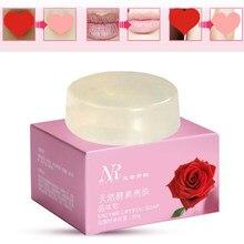 Clareamento da pele sabão areola partes privadas macio vermelho cristal sabão rosa vulvar lábios todo o corpo clareamento lixívia segura 25 dias