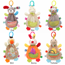 Soft Blanket Stuffed Sleep Soothe Toy Newborn Baby Funny Teether Comfort Towel Rattle Appease Toy Creative Doll Toy