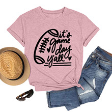 4 # kobiety nadruk liter t-shirty O-neck Tee topy tunika luźny t-shirt z krótkim rękawem kobiety Harajuku Streetwear topy Футболка tanie tanio CN (pochodzenie) Wiosna jesień Osób w wieku 18-35 lat Na co dzień Poliester Drukuj Natural color