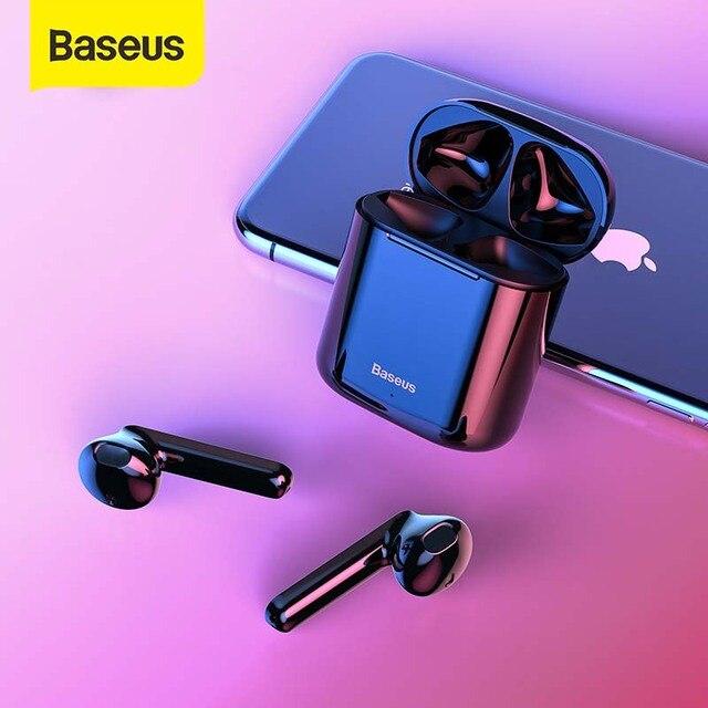 Baseus W09 TWS Bluetooth Earphone Wireless Handsfree Headphones Stereo Buletooth 5.0 Earphone HD Gaming Headset Sport Earphone
