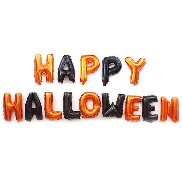 Ballon en aluminium pour fêtes dhalloween, motif fantôme effrayant en aluminium, tête de citrouille, décoration de crâne daraignée noir et amusant
