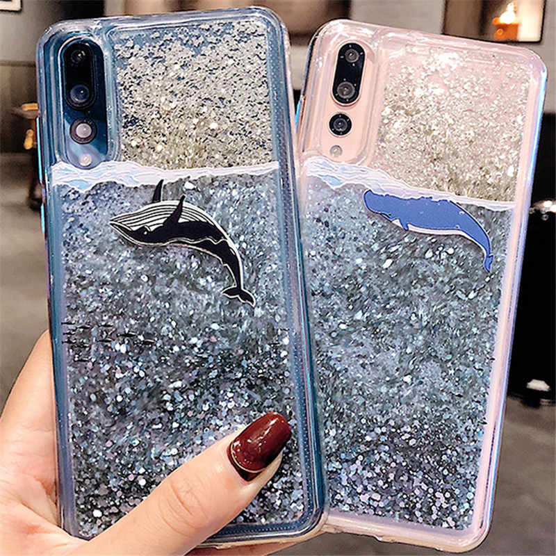 Dynamic Liquid Quicksand Soft Case for Huawei P30 P20 Y7 Pro P10 Honor V10 10 9 Lite 8x 7A 7C 7X Nova 4 3 3i 3E 2S Mate 20 Y9