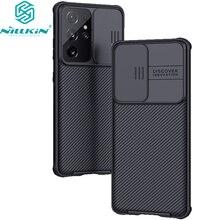 Nillkin Voor Samsung Galaxy S21 Plus/S21 Ultra 5G Case, camera Protectionslide Bescherm Cover Lens Bescherming Voor Samsung S21 + Plus