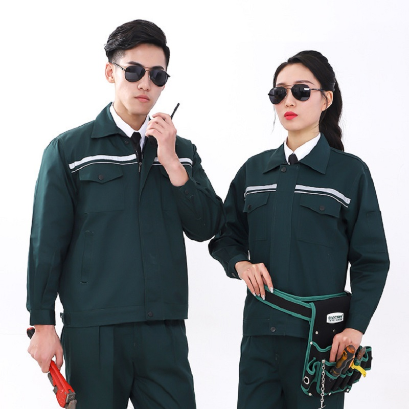 Welding Suits Reflective Clothes Set Men Women Long Sleeves Working Uniforms Car Workshop Gas Station Mechanical Suits Coveralls