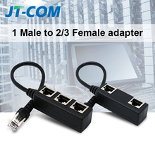RJ45 Splitter  Ethernet Network RJ45 1 Male to 3 Female Connector Adapter Networking Extension Cable Adapter Network Plug