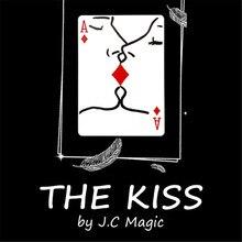 O beijo por j.c truques mágicos perto de rua palco cartão magia adereços visuais romântico cartão de poker magie mágicos ilusão truque