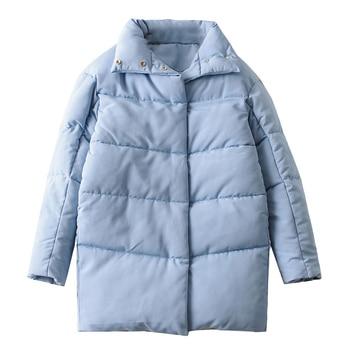 Tangada Women Amy Green Oversize Long Parkas Thick 2020 Winter Long Sleeve Buttons Pockets Female