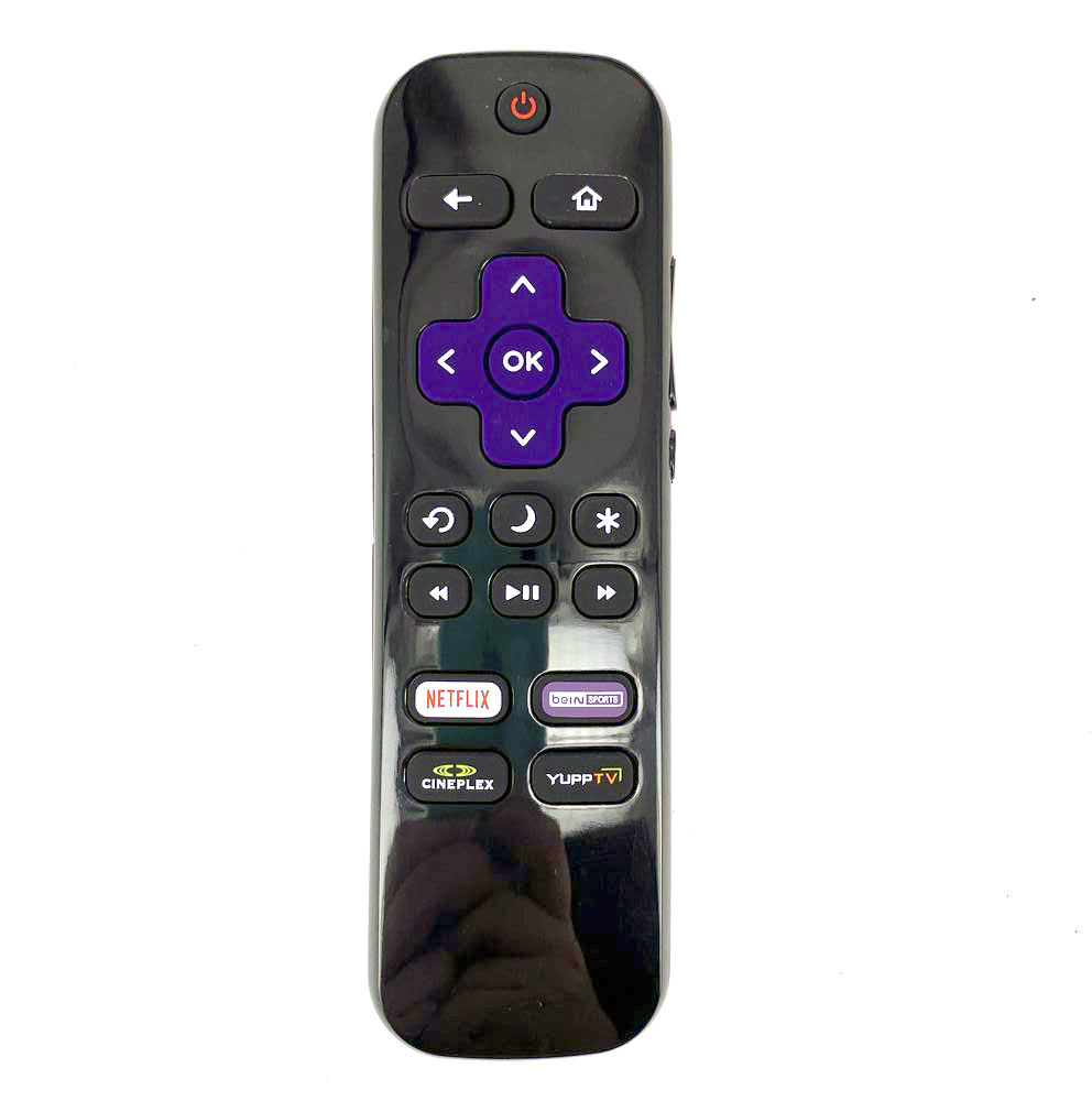 New Replacement LC-RCRCS-19 For Sharp Roku TV Remote Control With NETFLIX Bein Sports CINEPLEX YUPPTV Apps LC-32LB481U image