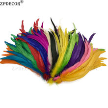 Wholesale 25-30CM/10-12 Inch Dyed Rooster Feathers For Crafts Weddings Carnival Decorations