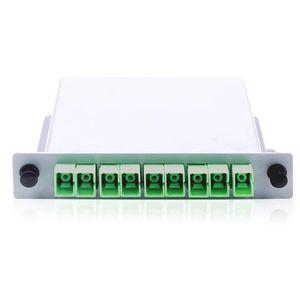 Image 2 - Darmowa wysyłka10pcs/lot kaseta typu wstawiania rozdzielacz światłowodowy Box 1x8 SC/APC kaseta typu wstawiania rozdzielacz światłowodowy
