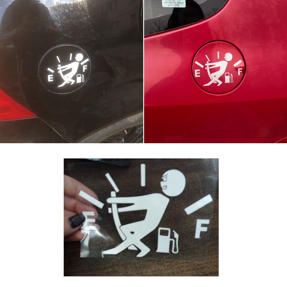 Gas gauge decal High Gas Consumption Decal Fuel Gauge Empty Funny Fuel Tank Cap Decal
