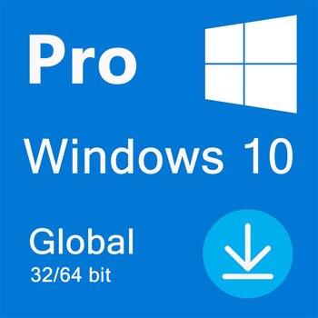 Microsoft windows 10 pro chave 32/64 bit global online ativar ativação da vida-todos os idiomas ganham 10 pro 100% trabalhando