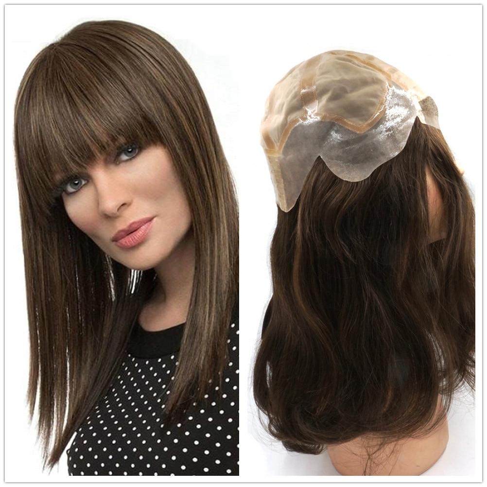 Hstonir Mediflex Women Wig European Remy Hair Human Hair Silktop Jewish Wig In Stock G030