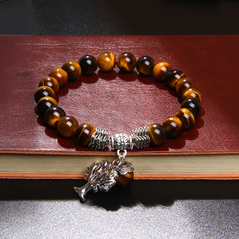 bracelet arbre de vie œil de tigre