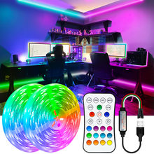 5V USB Led Strips Lights WS2811Dream 5M 10M 15M 20M Lighting DC 5V RGB Led Diode Ribbon Lamp For TV BackLight Decoration Bedroom
