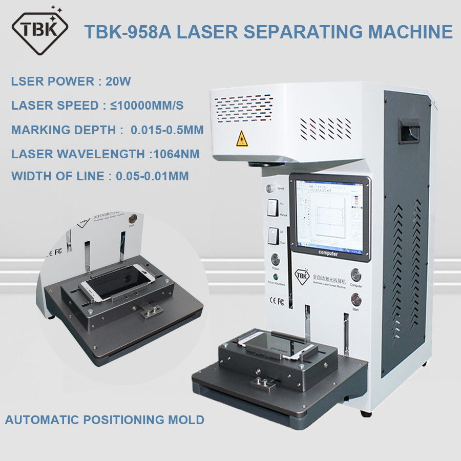 TBK-958A 20W Automatic LCD Back Glass Laser Separate Machine For Iphone 11 11pro Max For DIY Engraving And LOGO Marking Machine