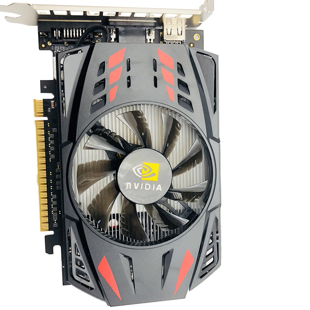 550TI 128BIT GPU 2GB GDDR5 128bit Gaming Computer Video Graphics Cards for GTX Single Fan With Temperature Control