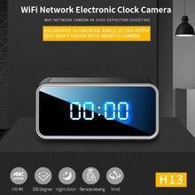 4K HD 1080P WIFI kamera z zegarem bezprzewodowa Mini tajna kamera z zegarem rejestrator bezpieczeństwo w domu kamera noktowizyjna Motion Detect