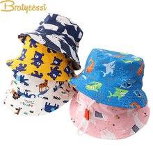 Chapéu bonito do bebê primavera verão dos desenhos animados crianças chapéu para meninas meninos balde chapéu de algodão unisex crianças acessórios boné 1 pc