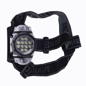 Headlamp 12 LED Headlamp Headlamp Zoomable White waterproof Fishing