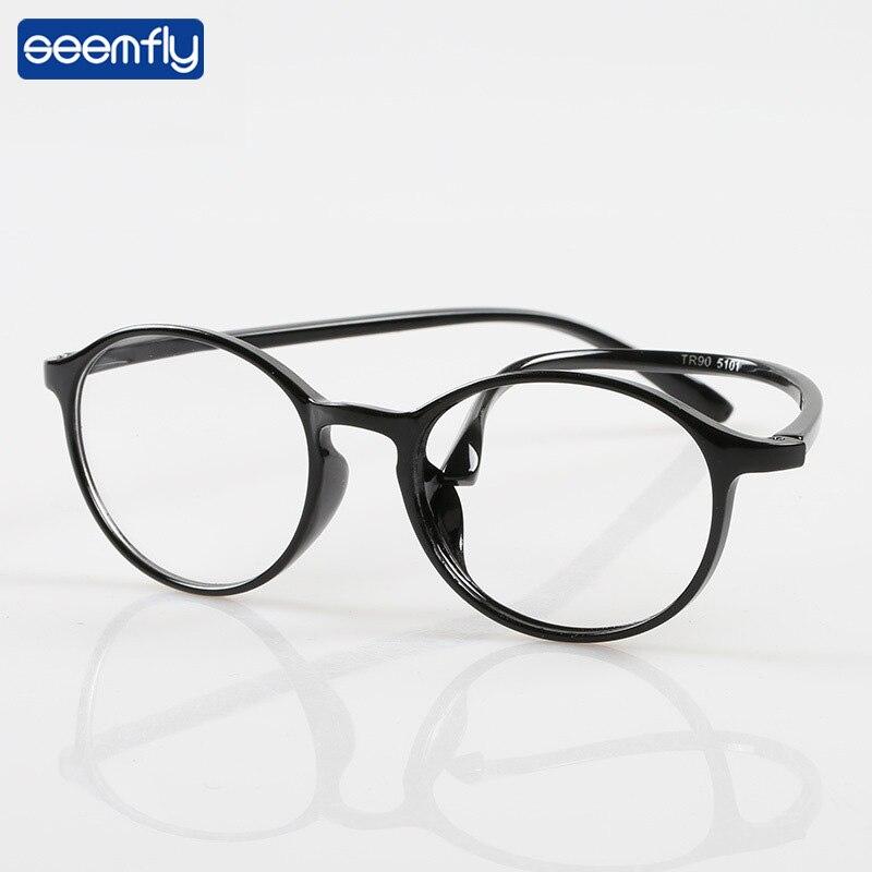 Seemfly Retro TR90 Ultralight Round Frame Reading Glasses Women&Men Presbyopia Eyewear With +1.0+1.5+2.0+2.5+3.0+3.5+4.0