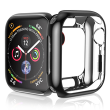 HOCO Ultra-thin Soft TPU Protective Case For Apple Watch Series 4 40MM 44MM  Electroplating Cover for iWatch Bumper