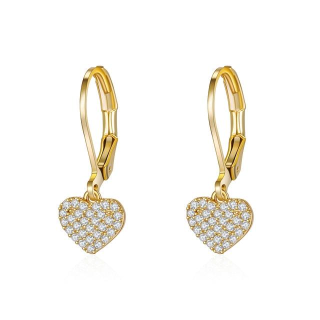Women Drop Earrings Full Cubic Zirconia Delicate Girls Party Dangle Earrings Shiny Fashion Jewelry 1