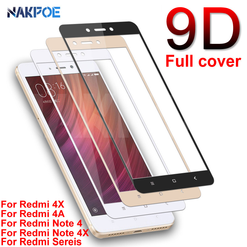 <font><b>9D</b></font> Protective Tempered Glass For <font><b>Xiaomi</b></font> <font><b>Redmi</b></font> Note 4 <font><b>4X</b></font> 5 5A Pro Screen Protector on the <font><b>Redmi</b></font> 5 Plus S2 <font><b>4X</b></font> 5A Glass Film Case image