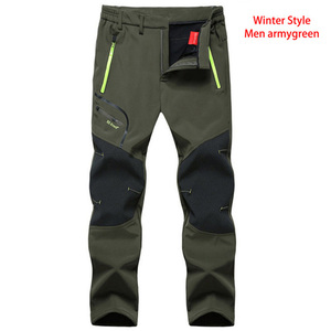 Image 5 - LUTU warm Autumn Winter Softshell Hiking Pants Men Waterproof Outdoor Trousers Sports Camping Trekking cycling ski fleece Pants
