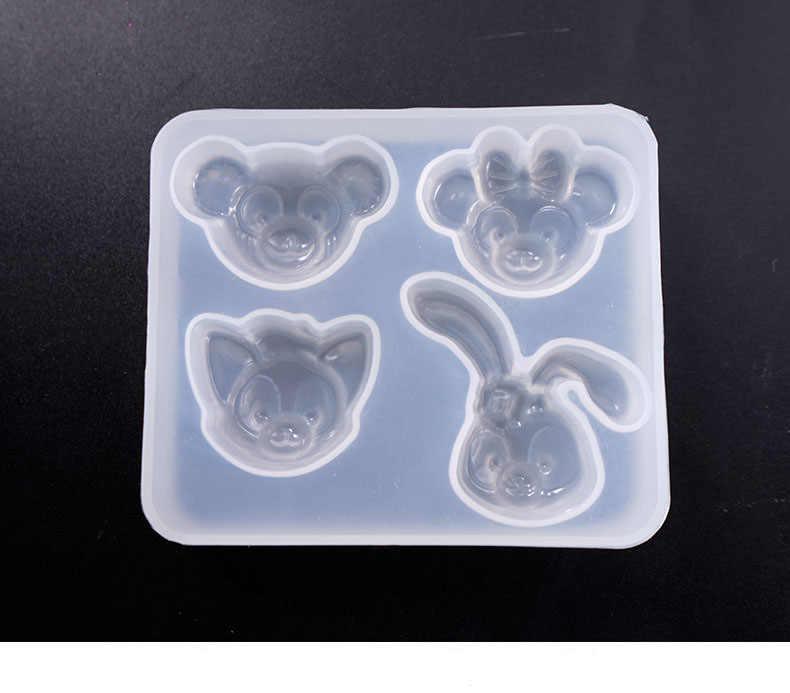 Popular1PC SHELL Star หมีกระต่ายรูปร่างซิลิโคนแม่พิมพ์เค้ก DIY ช็อกโกแลตเบเกอรี่เค้กตกแต่งแม่พิมพ์ปูนปลาสเตอร์