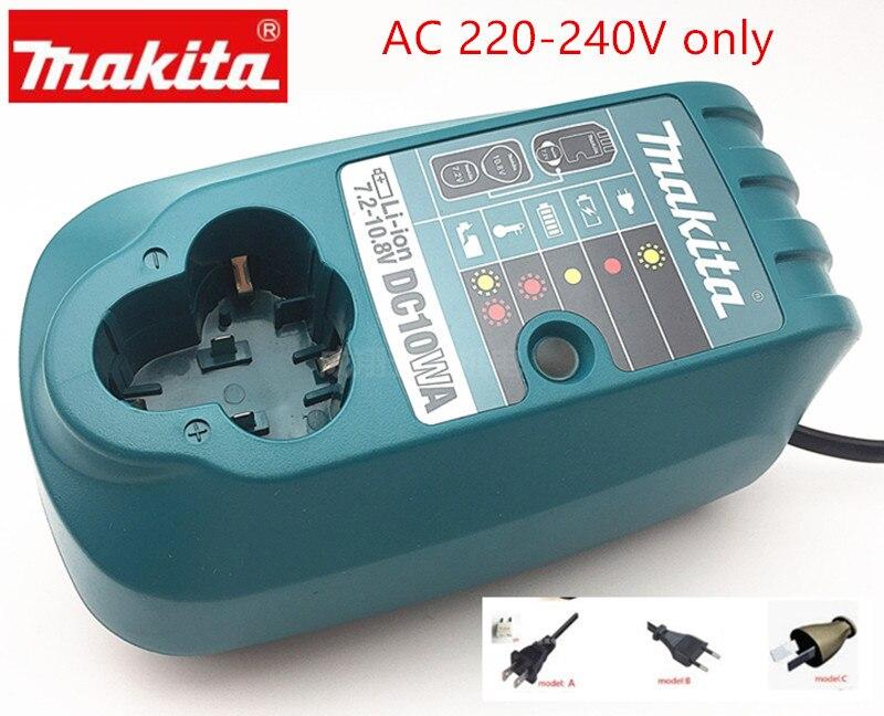 Makita 10.8V 12V Charger DC10WA For BL1013 BL1014  DC10WB  DF030D DF330D DF030DWE TD090D  HP330D HP330Z TD091Z UH200Z