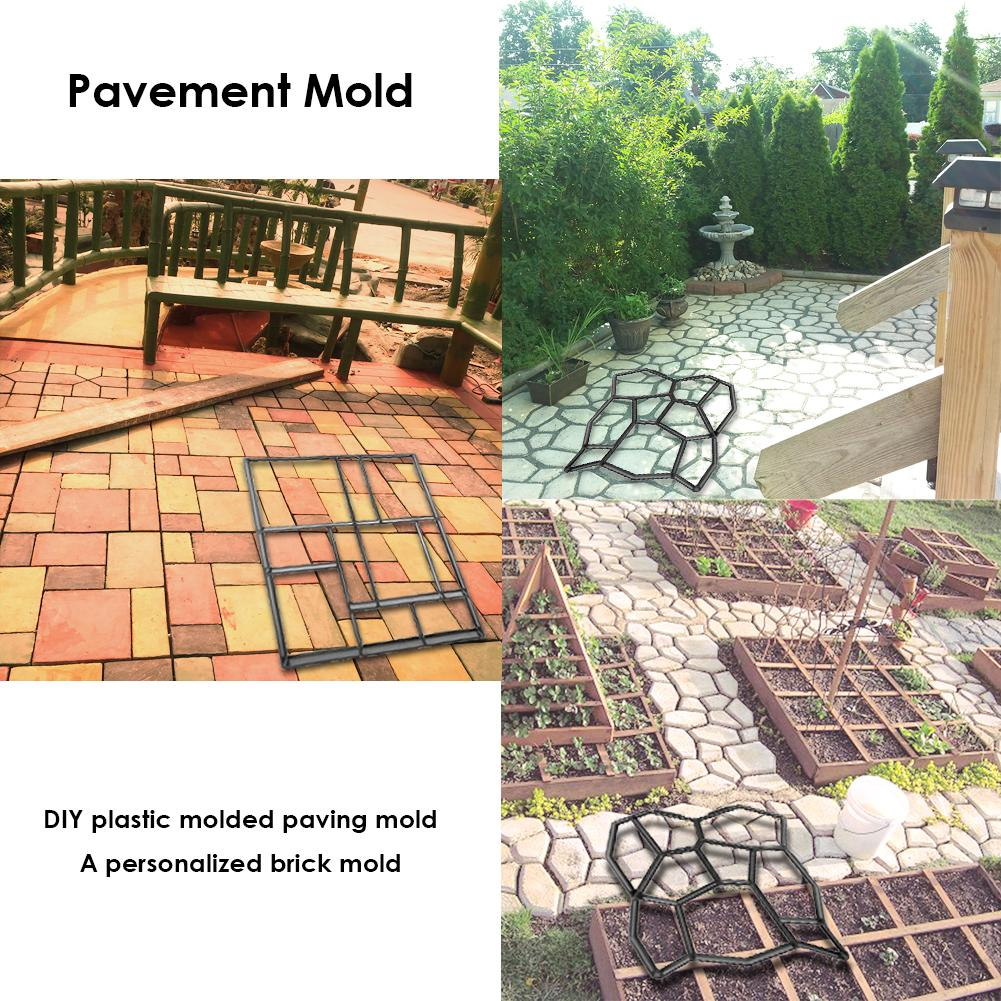 cheapest Outdoor Courtyard Garden Stone Road Walk Maker DIY Manually Path Paving Maker Flower Mold Imitation Brick Carving Pavement Tool
