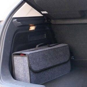 Image 1 - Auto Trunk Organizer Auto Lagerung Tasche Fracht Container Box Feuerfeste Verstauen Aufräumen Halter Multi Tasche Auto Styling 50*17*24cm