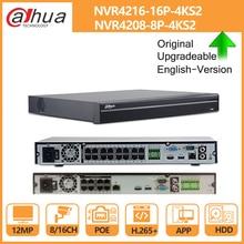 Dahua-télécommande PoE NVR 4K 32CH 16CH 8CH 4K | En charge avec disque dur H.265 2 SATA, pour la sécurité des caméras IP