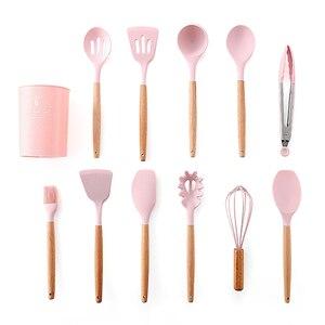 Image 5 - 8/9/10/11/12/13 Uds conjunto de utensilios para cocina silicona Premium juego de utensilios de cocina con caja de almacenamiento espátula cuchara de sopa, utensilios de cocina